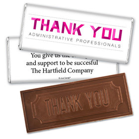 Administrative Professionals Day Embossed Thank You Chocolate Bar Thank You