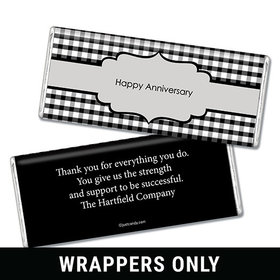 Employee Anniversary Personalized Chocolate Bar Wrappers