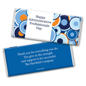 Personalized Administrative Professionals Day Colorful Circles Chocolate Bar Wrappers