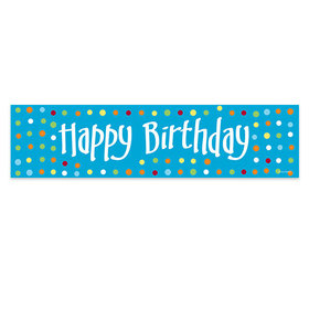 Personalized Polk Dots Happy Birthday 5 Ft. Banner