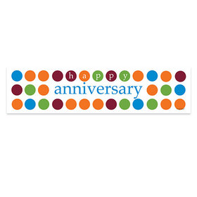 Personalized Polka Dots Happy Anniversary Banner