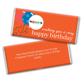 Personalized Chocolate Bar & Wrapper - Birthday Add Your Logo Balloons