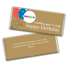 Personalized Chocolate Bar Wrappers Only - Birthday Add Your Logo Balloons