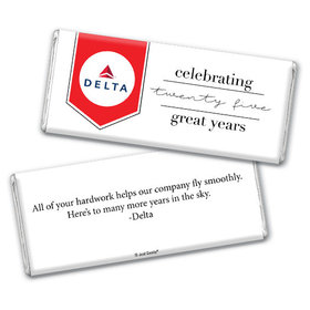 Personalized Chocolate Bar & Wrapper - Corporate Anniversary Add Your Logo Celebration