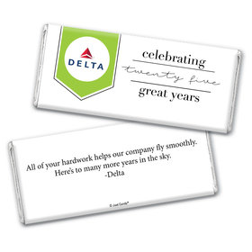 Personalized Chocolate Bar Wrappers Only - Corporate Anniversary Add Your Logo Celebration