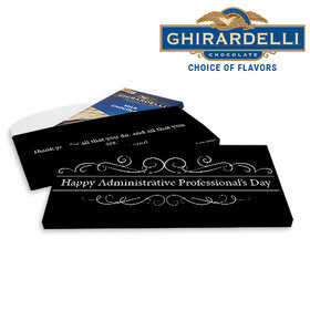 Deluxe Personalized You Deserve It Business Ghirardelli Peppermint Bark Bar in Gift Box (3.5oz)