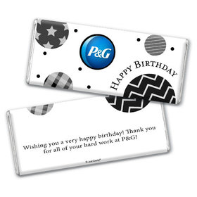 Personalized Chocolate Bar & Wrapper - Birthday Add Your Logo Circles