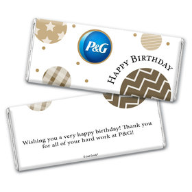 Personalized Chocolate Bar Wrappers Only - Birthday Add Your Logo Circles
