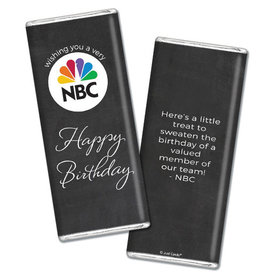Personalized Chocolate Bar & Wrapper - Birthday Add Your Logo Script