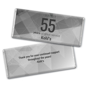 Personalized Chocolate Bar & Wrapper - Corporate Anniversary Geometric