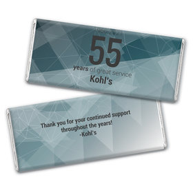 Personalized Chocolate Bar Wrappers Only - Corporate Anniversary Geometric