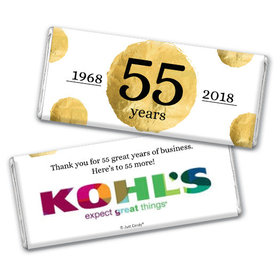 Personalized Chocolate Bar & Wrapper - Corporate Anniversary Add Your Logo Golden Seal
