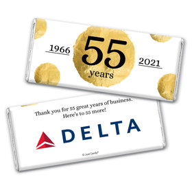 Personalized Chocolate Bar Wrappers Only - Corporate Anniversary Add Your Logo Golden Seal