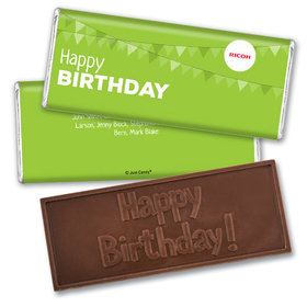 Personalized Embossed Chocolate Bar & Wrapper - Add Your Logo Birthday of the Month