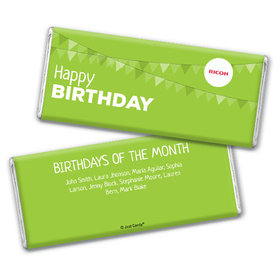 Personalized Chocolate Bar & Wrapper - Add Your Logo Birthday of the Month