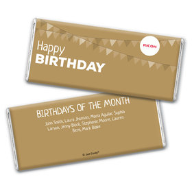 Personalized Chocolate Bar Wrappers Only - Add Your Logo Birthday of the Month