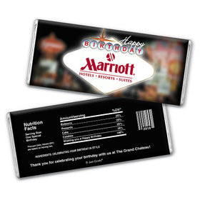 Personalized Chocolate Bar & Wrapper - Birthday Add Your Logo Casino