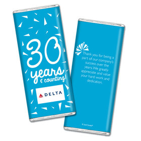 Personalized Chocolate Bar Wrappers Only - Birthday Add Your Logo Confetti