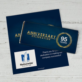 Personalized Work Anniversary Celebration Logo Chocolate Bar Wrappers Only