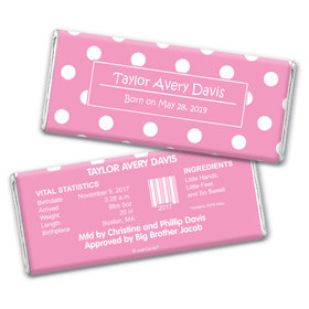 Princess Dots Personalized Candy Bar - Wrapper Only