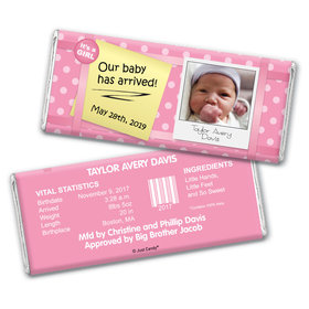 She Has Arrived Personalized Candy Bar - Wrapper Only