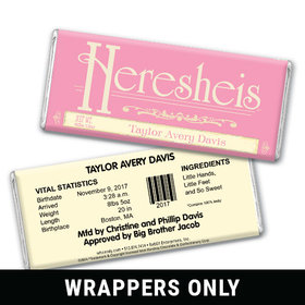 Old Fashioned HERESHEIS Personalized Candy Bar - Wrapper Only