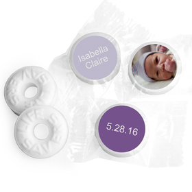 Add Your Photo Personalized Baby Girl LIFE SAVERS Mints Assembled