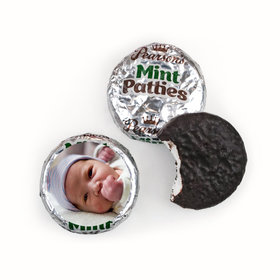 Baby Girl Announcement Personalized Pearson's Mint Patties Full Photo