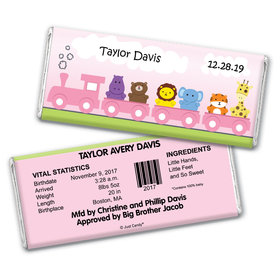 Choo Choo for Her Personalized Candy Bar - Wrapper Only