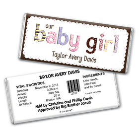Girl Baby Announcements Personalized Chocolate Bar
