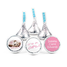 Personalized Girl Birth Announcement Snuggle Hershey's Kisses (50 pack)