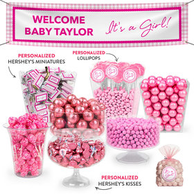 Personalized Birth Announcement It's a Girl Deluxe Candy Buffet