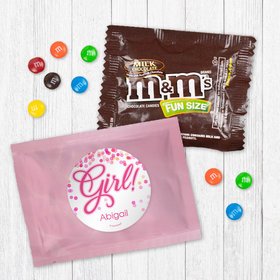 Personalized Girl Birth Announcement It's a Girl Bubbles - Milk Chocolate M&Ms