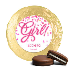 Milk Chocolate Covered Oreos - Personalized Girl Birth Announcement Bubbles