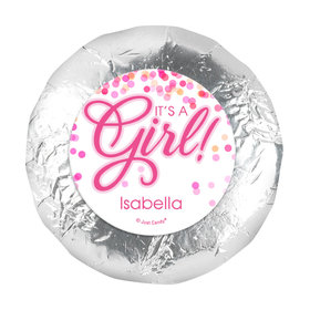 1.25in Stickers - Personalized Girl Birth Announcement Bubbles (48 Stickers)