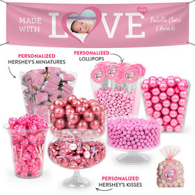 Personalized Girl Birth Announcement Love Deluxe Candy Buffet