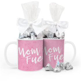Baby Girl Announcement Mom Fuel 11oz Mug with Hershey's Kisses
