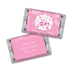 Personalized Hershey's Miniatures - Juliana Da Costa Birth Announcement It's a Girl Bundle of Joy