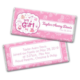 Personalized Girl Birth Announcement Bundle of Joy Chocolate Bar & Wrapper