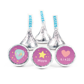 """Personalized 3/4"""" Stickers - Birth Announcement It's A Girl I Have Arrived (108 Stickers)"""