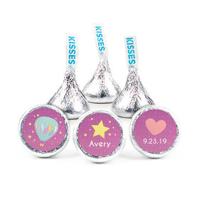 Personalized Girl Birth Announcement Stars Hershey's Kisses (50 pack)