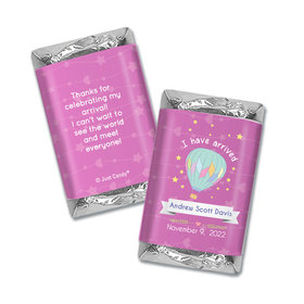 Personalized Hershey's Miniatures - Juliana Da Costa Birth Announcement It's a Girl I have Arrived