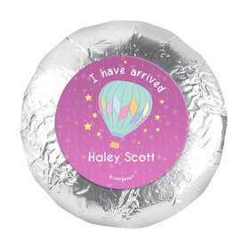 1.25in Stickers - Personalized Girl Birth Announcement I Have Arrived (48 Stickers)