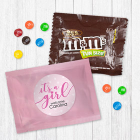 Personalized Girl Birth Announcement It™s a Girl - Milk Chocolate M&Ms