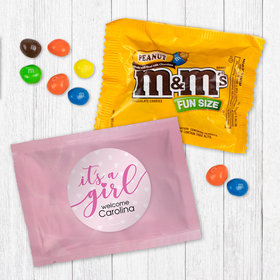 Personalized Girl Birth Announcement It™s a Girl - Peanut M&Ms