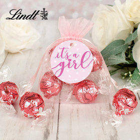 It's a Girl Lindt Truffle Organza Bag