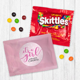 Personalized Girl Birth Announcement It™s a Girl - Skittles