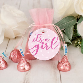 It's a Girl Hershey's Kisses Organza Bag