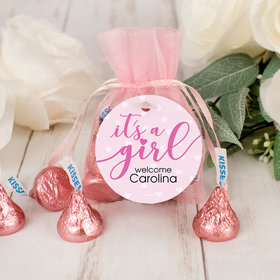 Personalized It's a Girl Hershey's Kisses Organza Bag