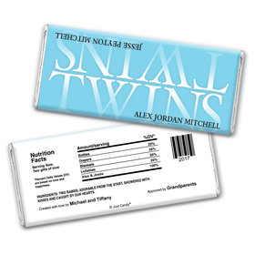 Twins Personalized Candy Bar - Wrapper Only